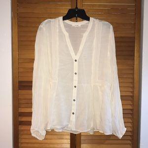 Cream button down blouse